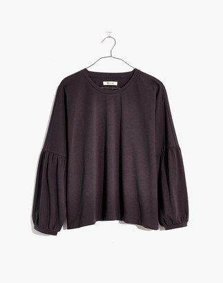 Madewell Crepe Drop-Shoulder Bubble-Sleeve Tee