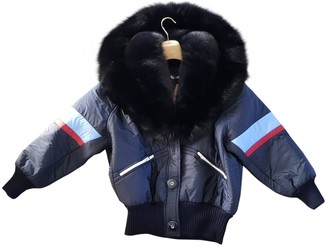 Miu Miu Blue Fur Coat for Women