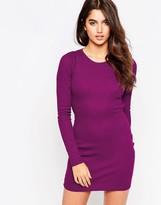 Glamorous Long Sleeve Jersey Dress