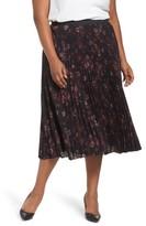Sejour Plus Size Women's Pleated Midi Skirt
