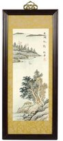 Oriental Furniture 21-Inch Zen Retreat Sume-E Style Ink and Watercolor Framed Painting Wall Art
