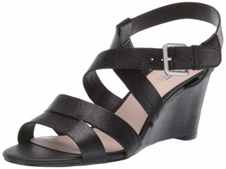 Tahari Womens Violette Wedge Sandal Biscuit Leather 10 M