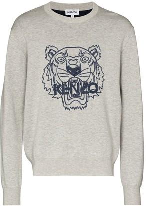 Kenzo Tiger logo-print sweatshirt