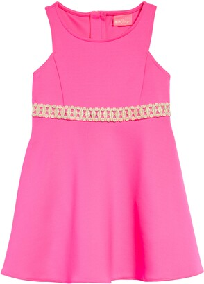 Lilly Pulitzer Kids' Addyson Lace Trim Fit & Flare Dress