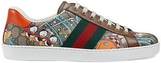 Gucci New Ace Donald Duck Print Sneakers