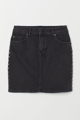 H&M Denim Skirt with Studs