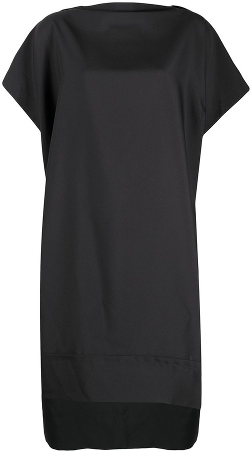 Issey Miyake Short-Sleeve Shift Dress