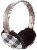 Burberry Metallic Leather Earmuffs