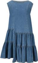 MM6 MAISON MARGIELA Mm6 Asymmetric Ruffled Denim Dress