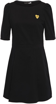 Love Moschino Appliqued Cotton-corduroy Mini Dress