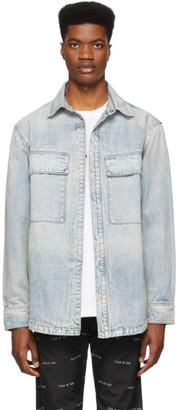 Fear Of God Blue Denim Vented Shirt Jacket