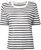 Alexander Wang striped T-shirt - women - Linen/Flax/Viscose - M