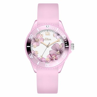 S'Oliver Girl's Analogue Quartz Watch with Silicone Strap SO-4251-PQ