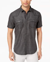 INC International Concepts I.n.c. Men's Gray Denim Shirt, Created for Macy's
