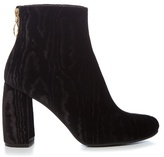 Stella McCartney Ribbon curved-heel velvet-devoré ankle boots