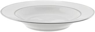 Ten Strawberry Street Set Of 6 Silver Double Line Rim Soup