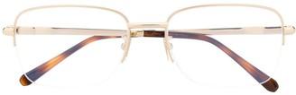 Brioni Two-Tone Square Frame Glasses