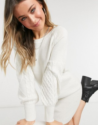 BB Dakota knit sweater dress in ivory