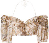 Zimmermann tie-back floral top