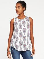Old Navy Luxe Printed High-Neck Swing Tank for Women