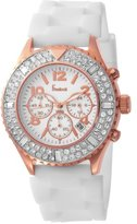 Freelook Women's HA9083CHRG-9 Aquamarina Royale rose gold plated Case White Silicon Band Watch