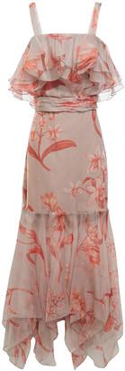 Johanna Ortiz Hula Dance Ruffled Floral-print Silk-organza Midi Dress