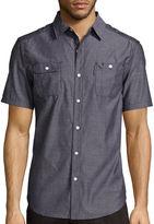 Ecko Unlimited Unltd. Short-Sleeve Solid City Woven Button-Front Shirt