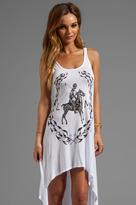 Lauren Moshi Daria LM Crest Asymmetrical Tank Dress