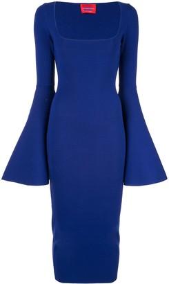 SOLACE London Serra bell sleeve dress