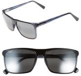 Maui Jim Women's Flat Island 58Mm Polarizedplus Sunglasses - Blue Stripe/ Neutral Grey