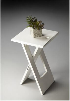 Butler Hammond White Folding Table