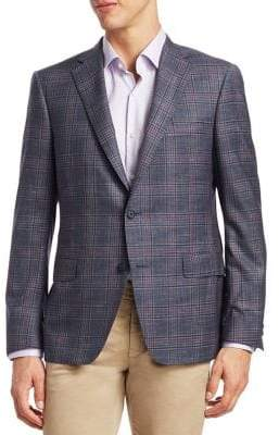 Saks Fifth Avenue COLLECTION BY SAMUELSHON Plaid Wool Sportcoat