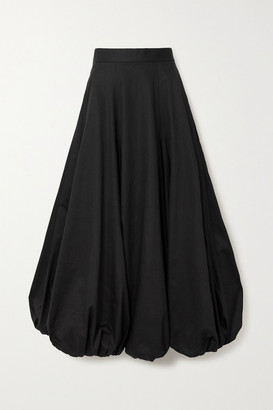 Renaissance Renaissance Ottoman Cotton-blend Midi Skirt - Black