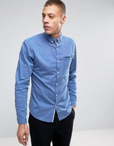 Lindbergh Melange Stretch Shirt Slim Fit in Dark Blue
