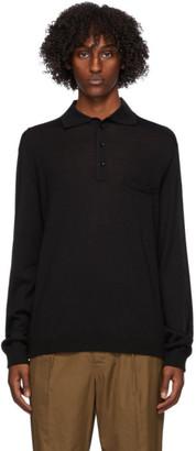 Lemaire Black Long Sleeve Polo