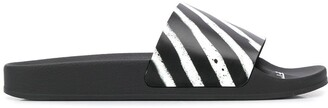 Off-White Off White stray stripes slides