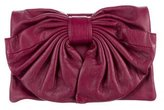 RED Valentino Leather Bow Clutch