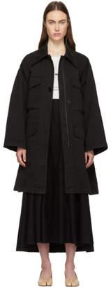 MM6 MAISON MARGIELA Black Four-Pocket Coat