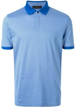 Durban D'urban fine knit striped polo shirt