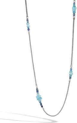 """John Hardy Classic Chain Silver Long Mixed-Stone Necklace, 36"""""""