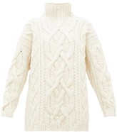 Connolly - Cable-knit Merino-wool Blend Sweater - Womens - Ivory