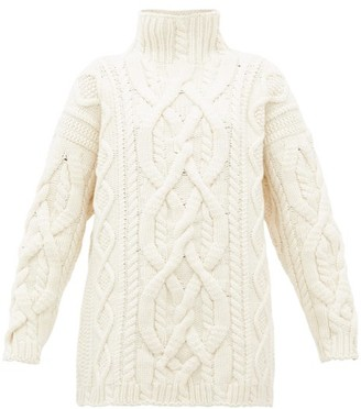 Connolly - Cable-knitted Merino-wool Blend Sweater - Ivory