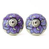 Ibacrafts White Knob Ceramic Drawer Pull Round Decorative Knobs Cabinet Hardware 1 Pair