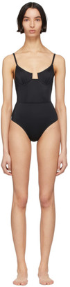 Solid and Striped Black The Veronica One-Piece Swimsuit