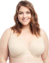 Motherhood Plus Size Full Coverage Back Smoothing Nursing Bra- Nude