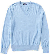 Brooks Brothers Saxxon Stretch V-Neck Sweater