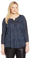 Lucky Brand Women's Plus-Size Modern Herringbone Shirt
