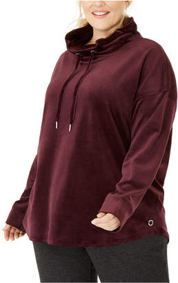 Calvin Klein Plus Size Cowlneck Drop-Shoulder Pullover