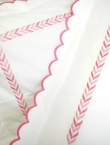 The Well Appointed House Pink Scalloped Leaf Bedding Collection