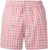 Brioni checked swimming shorts - men - Cotton/Polyamide - XL